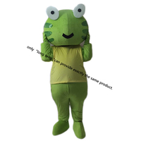 Frog Mascot Costume Cartoon Character Adult Sz 100 Real Picture Longteng
