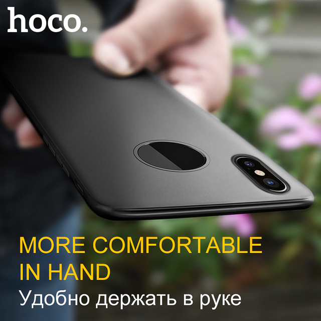 premium selection 13875 b43eb US $4.99 |HOCO Ultra Thin Soft TPU Matte Case for iPhone X Case Frosted  Light Protective Phone Cover for Apple iPhone X Black Housse-in Fitted  Cases ...