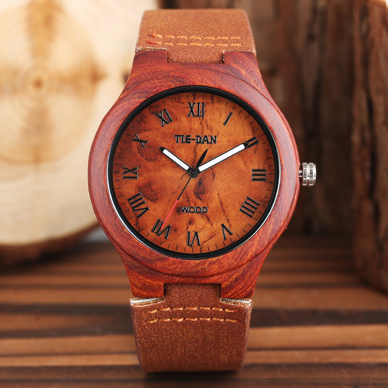2017 Hand-made Wooden Watches Made of Bamboo Wrist Watch with Genuine Leather Band Creative Gift for Men Women relojes de madera цена