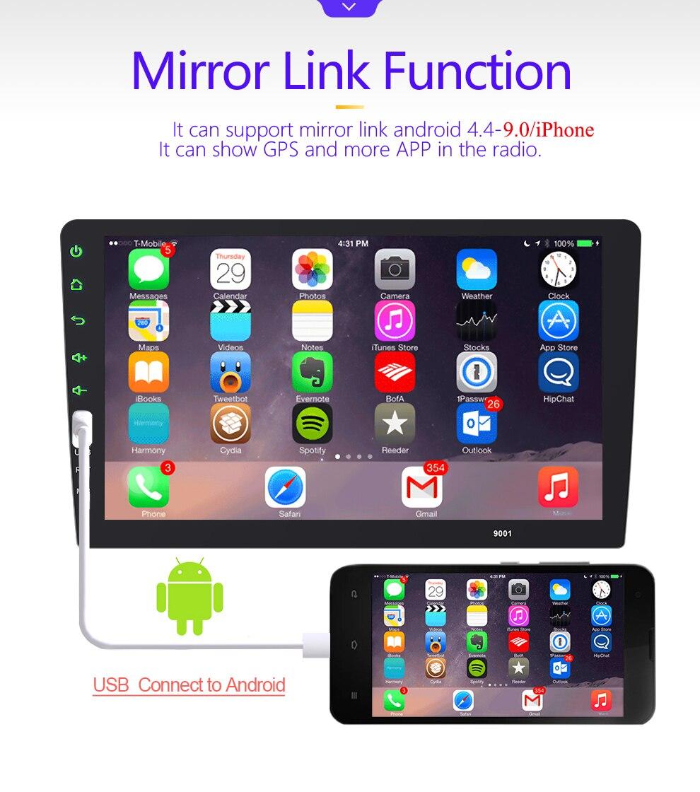 Samochód multimedia radiowe odtwarzacz ekran dotykowy BT lustro Link z systemem Android dla ostrości MT 2004 2005 2006-2008 2009 2010 2011 2 DIN Ford radio