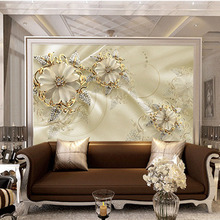 Custom 3D DIY Fabric & Textile Wallcoverings For Walls Matt Silk For Living Room Washable Wallpaper Floral Home Deco mural Good цена