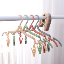 4 Colors Plastic Clothes Pegs Laundry Hanging Pins Clips Portable Folding Hanger Household Clothespins Drying Rack Holder
