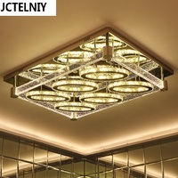 Bubble column crystal living room lamps oval led ceiling light rectangle modern brief lighting