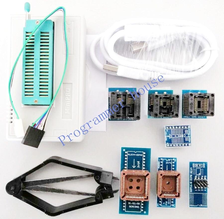 100 New V8 51 TL866II Plus TL866A TL866CS Universal USB Bios Programmer Nand flash 24 93