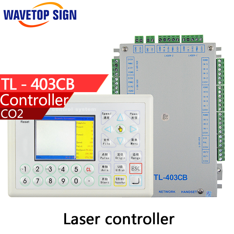 laser controller TL 403CB Laser Machine control system instead TL403CIA co2 laser mainboard use coreldraw software