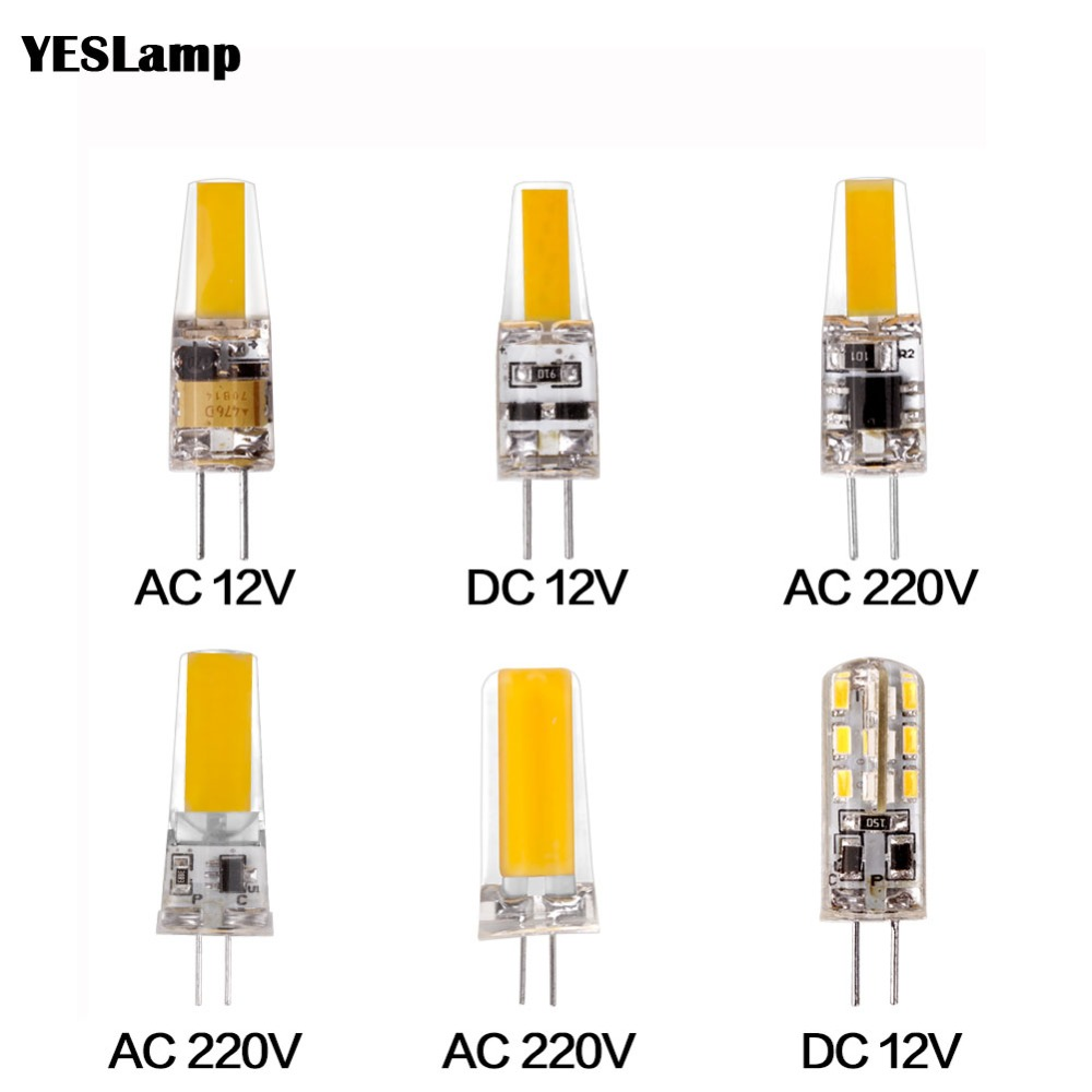 Led Lamp G4 G9 E14 Bulb Dimming Lighting AC DC 12V 220V 3W 6W 9W COB SMD Replace Halogen Lights Spotlight Bombillas Chandelier