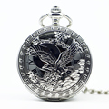Mechanical Hand Wind Carving Pocket Watch Steampunk Roman Numbers Steel Fob Watches Men Clock PJX1226