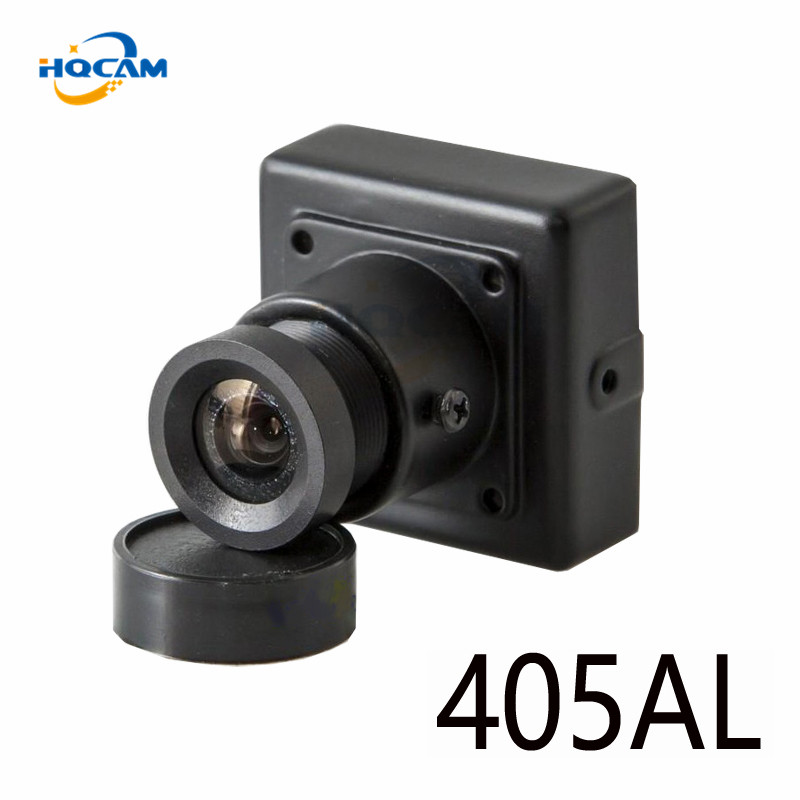HQCAM 0.001Lux CCD 480TVL Black and white image Analog Camera 405AL Black and white mini camera Mini Bullet Square Surveillance