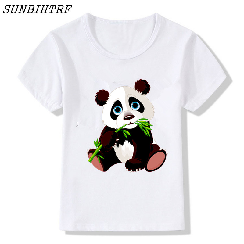Amicable Sunbihtrf Streetwear Children T-shirt Animal Funny Panda Top Cotton Child Shirt Boy Short T Shirts For Baby / Girl Kids Clothes