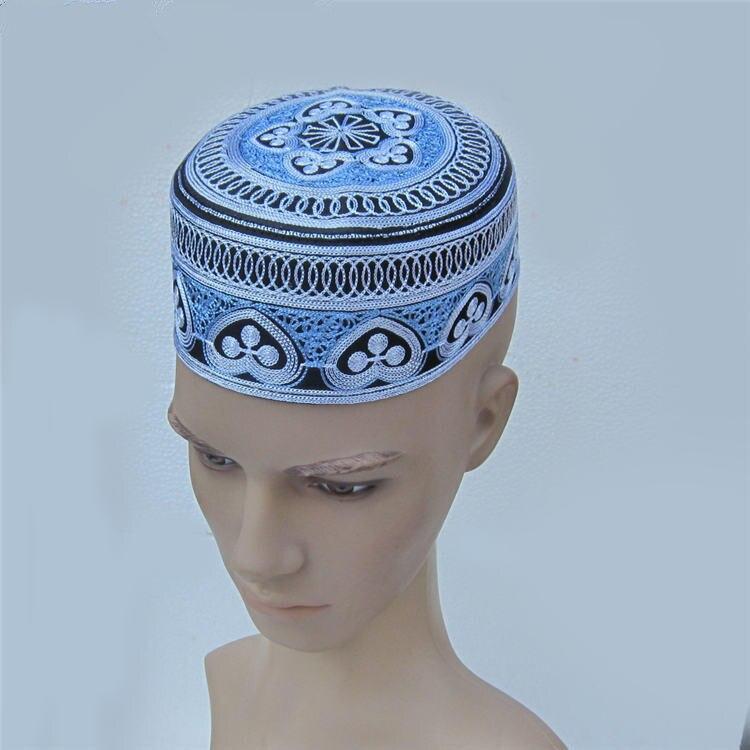 Новинка Арабский исламский мусульманский человек шляпа шапки для молитвы