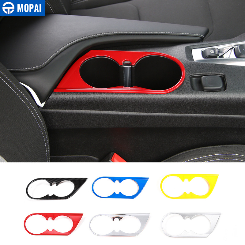 MOPAI ABS Car Interior Front Cup Holder Decoration Cover Stickers for Chevrolet Camaro 2017 Car Styling цена