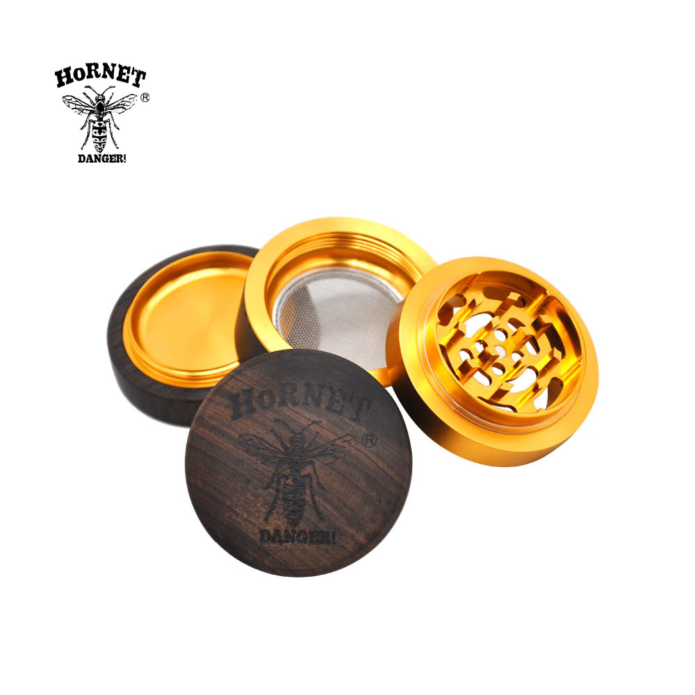 Image 5 - HORNET Premium Rosewood Handmade Wood Herb Grinder 60 MM 4 Layers  Tobacco Grinder Aluminum Sharp Diamond Teeth Smoking CrusherTobacco  Pipes