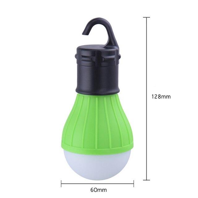Portable extérieur suspendu 3LED Camping lanterne lumière douce LED Camp lumières ampoule lampe pour Camping tente pêche 4 couleurs AAA batterie