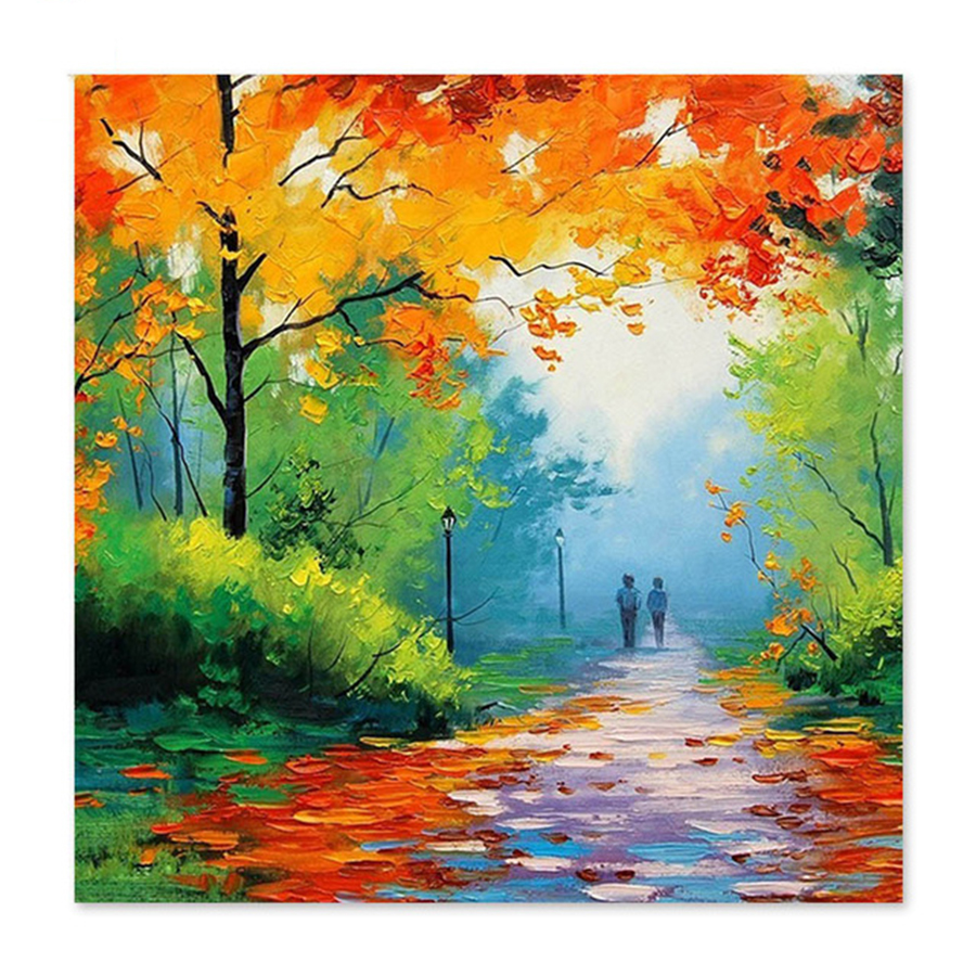 Us 9 0 40 Off Digital Painting Famous Paintings Abstract Painting By Numbers Autumn Trees Fall Autumn Draw On Canvas In Painting Calligraphy From