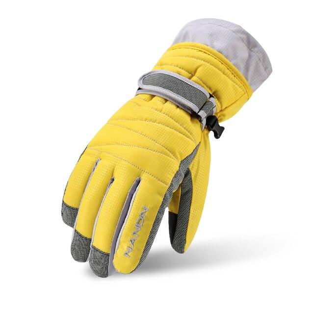 Nandn сноуборд непромокаемые перчатки Мужчины Женщины Дети теплые лыжные перчатки Снегоход Мотоцикл езда зимние уличные женские перчатки
