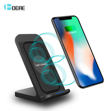 DCAE Qi Wireless Charger Dock Stand For iPhone X XS MXA XR 8 Plus Samsung Galaxy S10 S9 S8 Note 9 10W Fast Charging