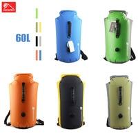 60L Waterproof Dry Bag Swimming Drifting Inflatable Kayak Rafting Beach Floating Rucksack Large Capacity Backpack Bucket Bags