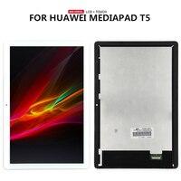 Dla Huawei MediaPad T5 10 AGS2 AL00HA AGS2 W09 Tablet T5 dotykowy wyświetlacz LCD ekran dygitalizatora w Ekrany LCD i panele do tabletów od Komputer i biuro na