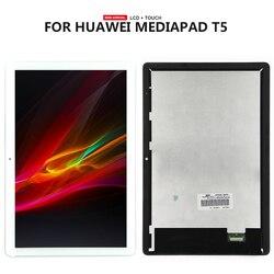 Para Huawei MediaPad T5 10 AGS2-AL00HA AGS2-W09 Tablet T5 digitalizador de pantalla táctil LCD asamblea de pantalla