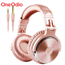 OneOdio Professional Studio DJ Wired Headphones With Microphone Over Ear HiFi Monitors Music Headset Earphone For Phone PC Pink