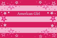 American Girl Pink striped Stars Background Vinyl cloth High quality Computer printed wall backdrops