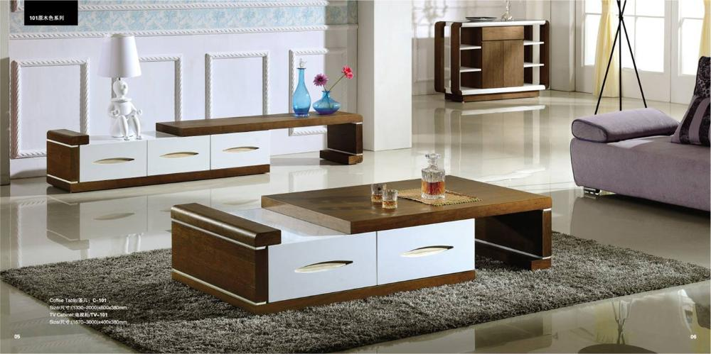 Living Room Coffee Table And TV Cabinet Set,Ashtree Wood Stick, Stretch U0026  Adjustable Design Table Cabinet Set YQ101 In Living Room Sets From Furniture  On ...