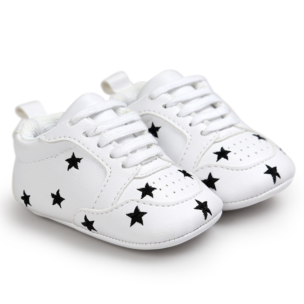 TELOTUNY baby moccasins newborn shoes PU leather embroidery fashion white 18C0419