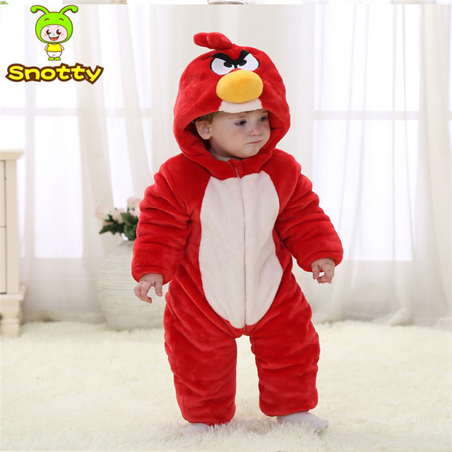 Animal Bebé Trajes de Cosplay Rojo Sobretodo de Lana Invierno Niño 4-24 Bebé Ropa de Invierno KJ-16019