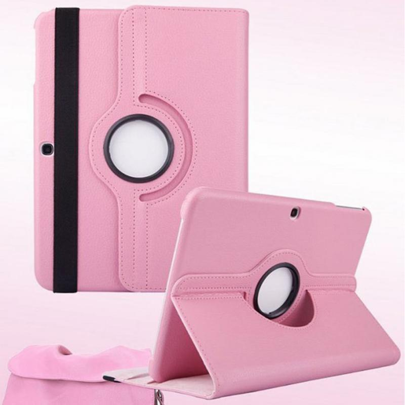 For Samsung Galaxy Tab 4 10.1 inch T530 T531 Tablet Case 360 Degree Rotating Stand Holder PU Leather Protective Cover protective 360 degree rotating pu leather case for samsung galaxy note 10 1 n8000 deep pink