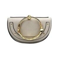 Для женщин панк круговой кольцо ручка сумки Малый круглая сумка через плечо для обувь девочек