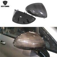 Замена стиль для Porsche Cayenne 958 углерода волокно зеркало заднего вида крышки 2011 2012 2013 2014 боковые крышки