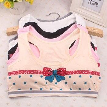 10-14Y sujetador para niñas período de desarrollo de carácter impreso ropa interior para niñas sujetador chaleco para niños ropa interior para niños niñas sostén de entrenamiento
