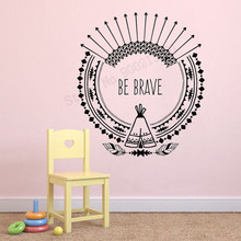 Wall Art Sticker Feathers Room Decor Arrows Ethnic Poster Removeable Kids Bedroom Cute Ornament Fashion Mural LY466