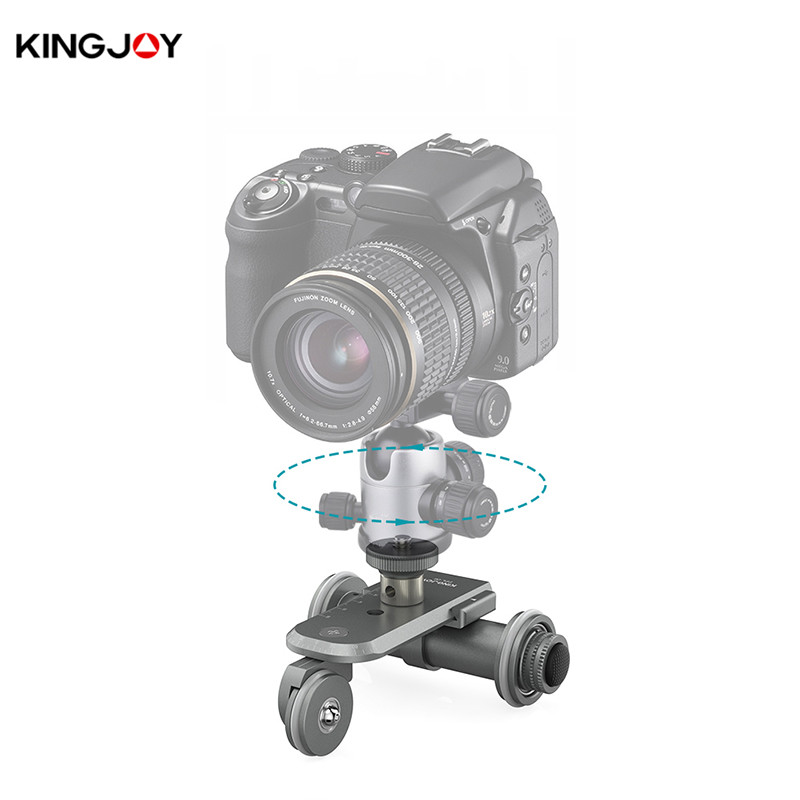 Kingjoy PPL 06 Motorized Electric 3 Wheel Video Pulley Car Dolly Rolling Slider Skater for DSLR
