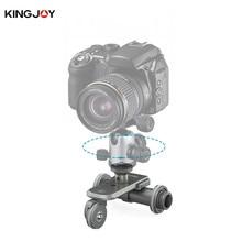 Kingjoy PPL-06 Motorized Electric 3-Wheel Video Pulley Car Dolly Rolling Slider Skater for DSLR mirrorless GOPRO Smartphone