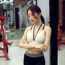 CIM Bra fitness running bra sexy vest thin shoulder strap underwear quick-drying shock absorption