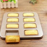 8 tassen carboon stahl platz muffin schimmel/diy nicht-stick donut pan cupcake champagner kuchenform