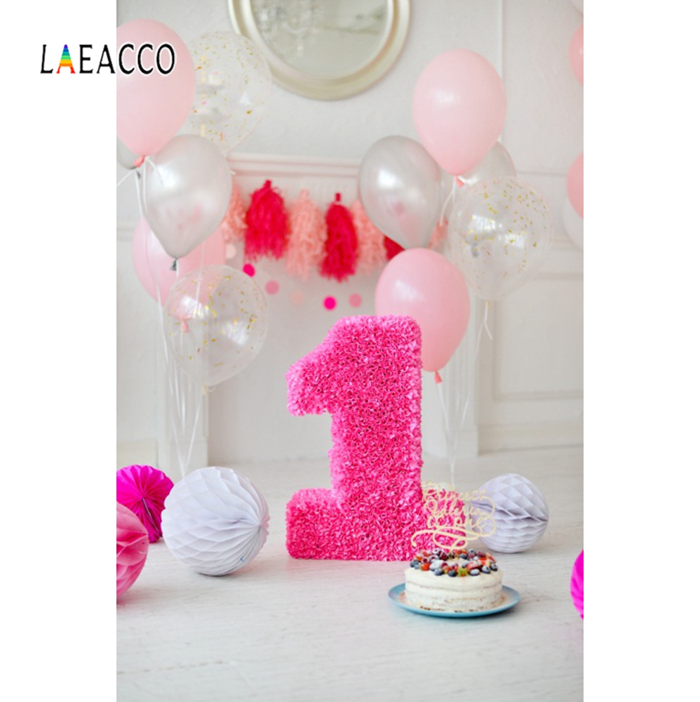 Balloons Baby 1st Birthday Party Flowers Carpet Chic Wall Baby Portrait Photo Backgrounds Photo Backdrops Photocall Photo Studio in Background from Consumer Electronics