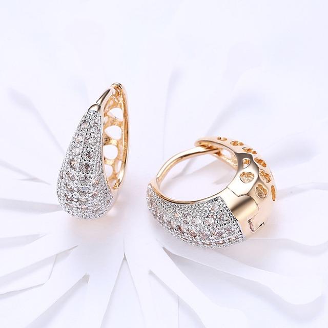Water Drop Hoop Earrings for Women
