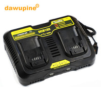 dawupine DCB102 Double Li ion Battery Charger USB Out 5V For DeWalt 10.8V 12V 14.4V 18V DCB101 DCB200 DCB140 DCB105 DCB200