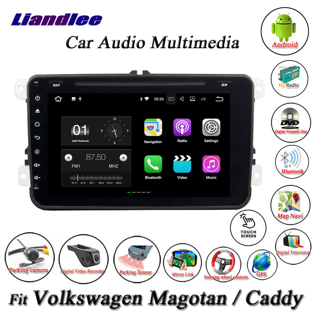 Liandlee Car Android System For Volkswagen VW Magotan / Caddy Radio CD DVD Player GPS Nav Navi Navigation HD Screen Multimedia