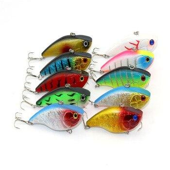 10 Color nuevo Minnow Wobbler Swimbait Artificial Señuelos de Pesca ganchos aparejos de Pesca duro pintura verde cebo Pesca 7.5cm18g