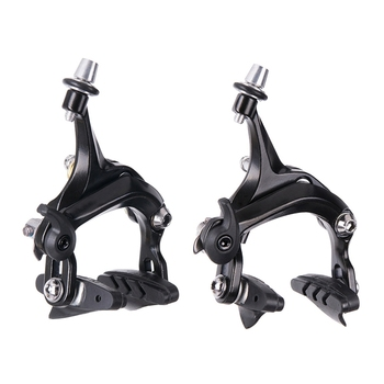 Ztto 1 Set Bicycle Brake Racing Road Bike Dual Pivot Brake Aluminum Side Pull Caliper Front And Rear With Brake Pads 210g set fouriers br dx001bike extreme lightweight full cnc brake caliper for road bicycle 210g