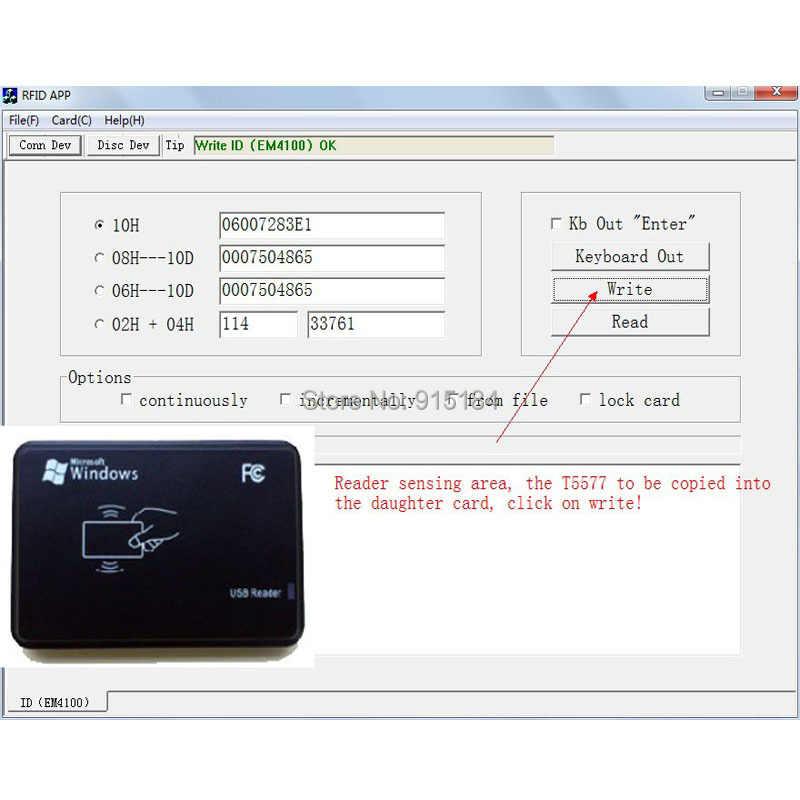 125KHz RFID ID Card Reader & Writer/Copier/Programmer + FREE