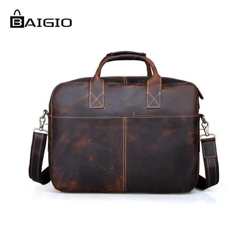 1af9bbbaabb Baigio Leather Briefcase 17