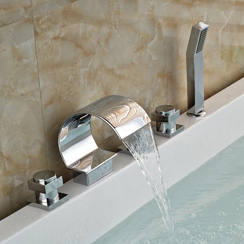 New Wasserfall Deck Montieren Messing Badewanne Dusche Heldhead