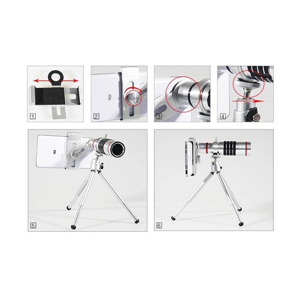 KRY 18x lentes Universal Zoom Camera Phone Lens Optical Telescope Telephoto Lenses Tripod For iPhone 5s lens 6 6s 7 Plus Lens 7