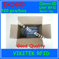 Omni-ID Exo 600 UHF RFID metal etiketi 860-940 MHZ 915 M EPC C1G2 ISO18000-6C depo lojistik Perakende EXO600 kullanarak 100 adet kutusu