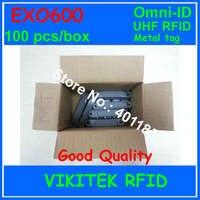 Omni ID Exo 600 UHF RFID metal tag 860 940MHZ 915M EPC C1G2 ISO18000 6C warehouse logistics retail using EXO600 100 pcs box