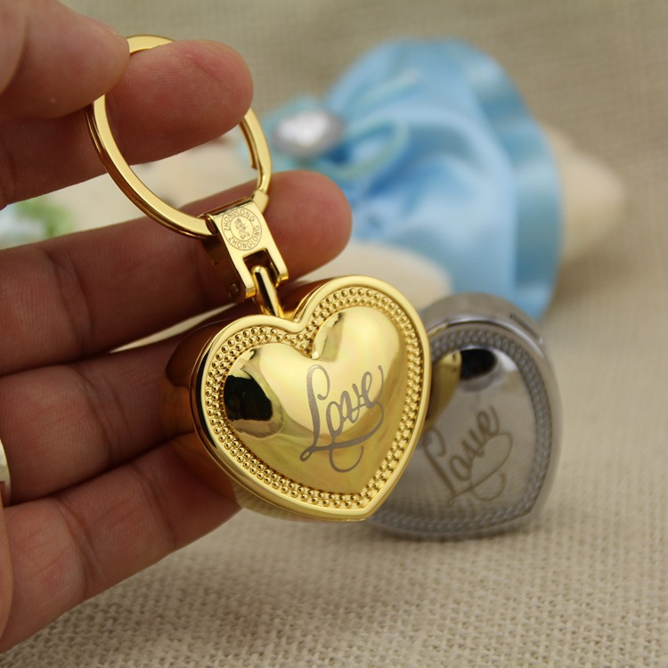 Creative love couples personality key chain multi function metal windproof lighter USB recharging font b electronic